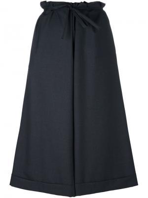 Укороченные широкие брюки Daniela Gregis. Цвет: серый