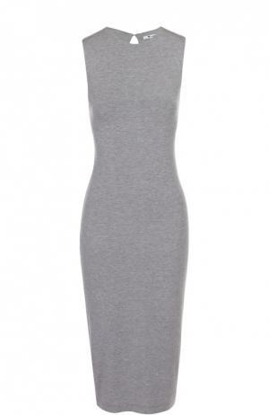 Облегающее платье без рукавов с декоративными разрезами T by Alexander Wang. Цвет: серый