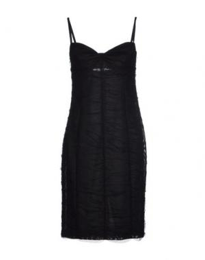 Платье до колена PF PAOLA FRANI. Цвет: черный