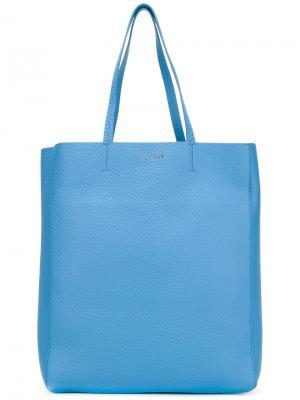 Классическая сумка-шоппер Orciani. Цвет: синий