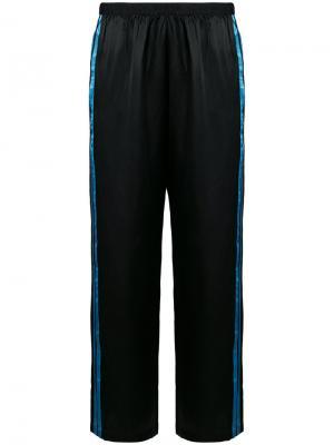 Пижамные шорты с полосками Morgan Lane. Цвет: чёрный