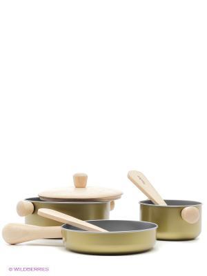 Набор посуды PLAN TOYS. Цвет: золотистый