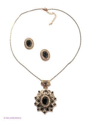 Комплект Lovely Jewelry. Цвет: черный, золотистый