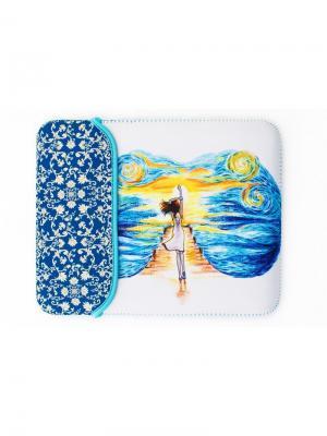 Чехол для планшета Sheldi. Цвет: синий, белый, голубой, желтый