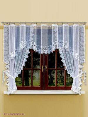 Комплект штор для кухни Haft. Цвет: белый