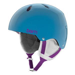 Шлем для сноуборда детский  Snow EPS Diabla Translucent Light Blue/White Liner Bern. Цвет: голубой