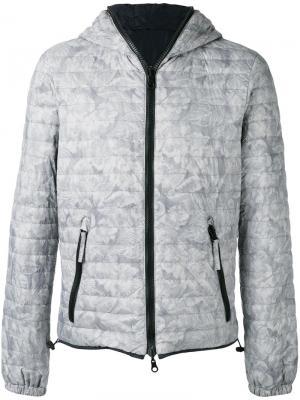 Стеганая куртка с цветочным принтом Duvetica. Цвет: серый