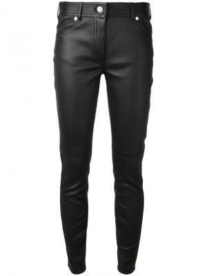 Кожаные брюки скинни Givenchy. Цвет: чёрный