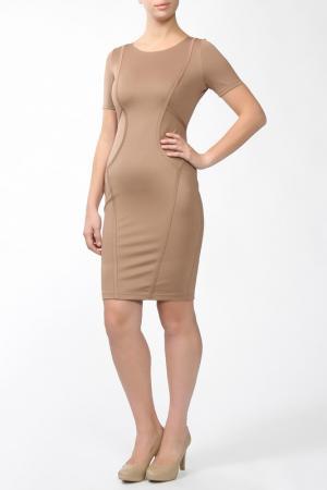 Платье Marks & Spencer. Цвет: бежевый