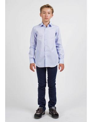 Рубашка ШАЛУНЫ. Цвет: голубой