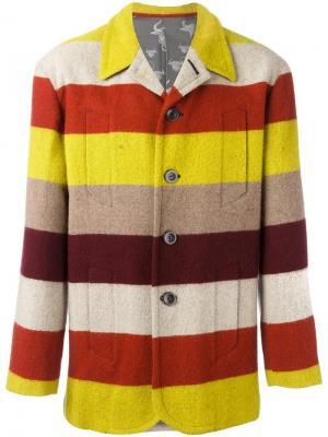 Полосатый пиджак Jean Paul Gaultier Vintage. Цвет: жёлтый и оранжевый