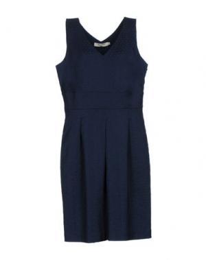 Платье до колена NICE THINGS BY PALOMA S.. Цвет: темно-синий