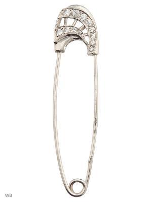 Булавка ACCENT jewelry. Цвет: белый