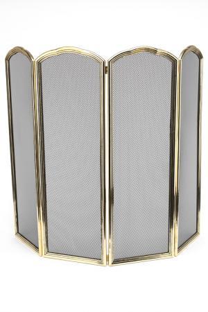 Защитный экран для камина Stilars. Цвет: золотой