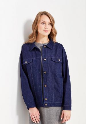 Куртка джинсовая Cauris. Цвет: синий