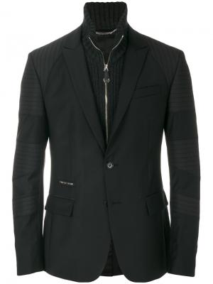 Пиджак с панельным дизайном Philipp Plein. Цвет: чёрный
