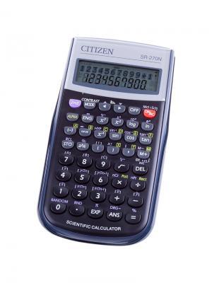 Калькулятор научный SR-270N 10+2 разрядов, 236 функция, пит. от батарейки, 149*70*12мм, черный CITIZEN. Цвет: черный