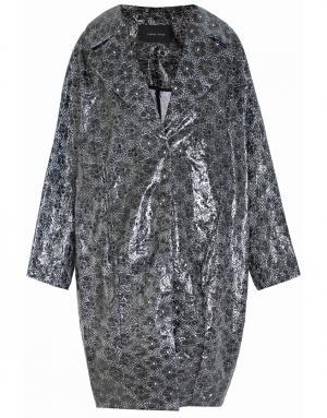 Пальто из полиуретана и хлопка Simone Rocha. Цвет: черный, коричневый
