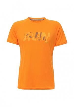 Футболка спортивная Li-Ning. Цвет: оранжевый