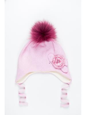 Шапка Dan&Dani. Цвет: розовый