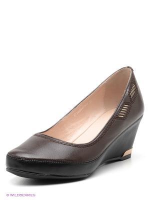Туфли EVITA. Цвет: темно-коричневый