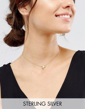 ASOS Ожерелье Скорпион из позолоченного серебра. Цвет: медный