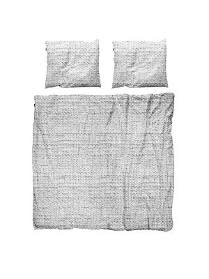 Комплект постельного белья Косичка серый 200х220см SNURK. Цвет: темно-серый