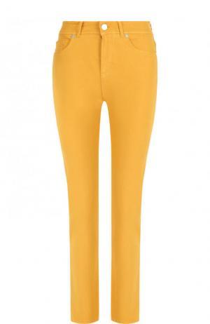 Укороченные джинсы Loro Piana. Цвет: желтый