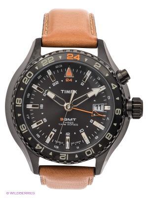 Часы TIMEX. Цвет: черный, бежевый