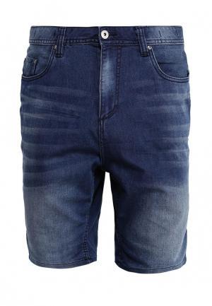 Шорты джинсовые Piazza Italia. Цвет: синий