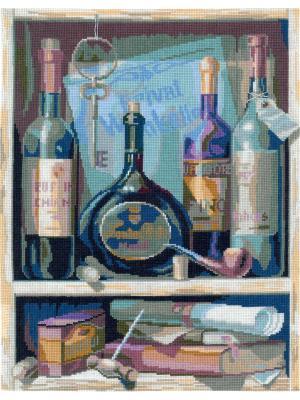 Вино набор для вышивания 24х33 см NITEX. Цвет: черный, коричневый, синий