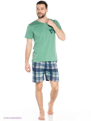 Комплект Vienetta Secret. Цвет: зеленый, темно-синий