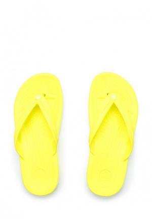 Сланцы Crocs. Цвет: желтый