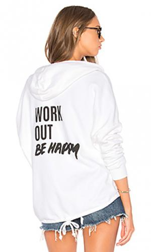 Худи marion work out be happy TYLER JACOBS. Цвет: белый