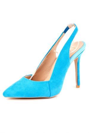 Босоножки Riccorona. Цвет: голубой