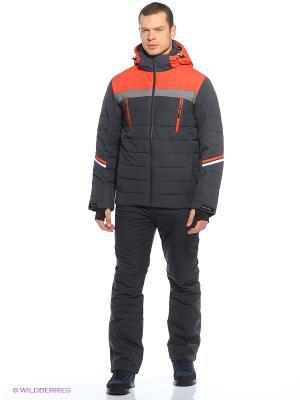 Куртка High Experience. Цвет: серый, оранжевый