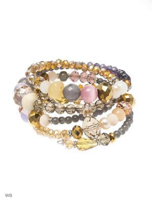 Браслет CHIC BIJU. Цвет: серый, фиолетовый, золотистый