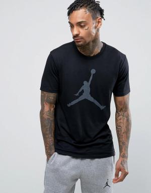 Jordan Черная футболка с логотипом Nike Jumpman 834473-010. Цвет: черный