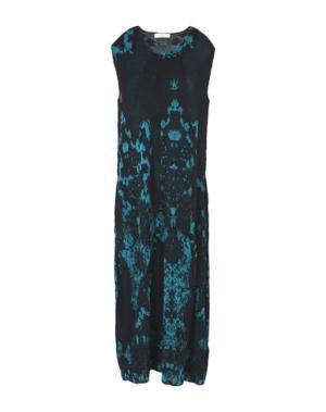 Платье до колена MANOSTORTI. Цвет: цвет морской волны
