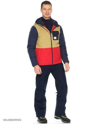 Куртка O'Neill. Цвет: коричневый, красный, синий