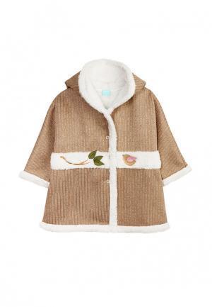 Пальто AnyKids. Цвет: коричневый