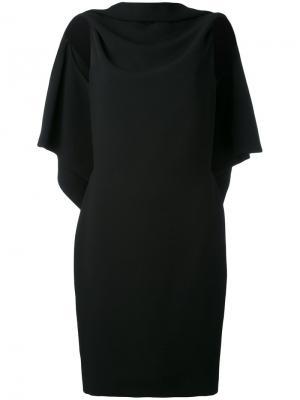 Драпированное платье с открытой спиной Gareth Pugh. Цвет: чёрный