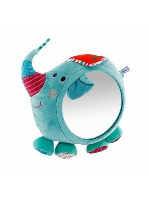 Слоник Альберт: игрушка - зеркало развивающ. Lilliputiens. Цвет: голубой, розовый