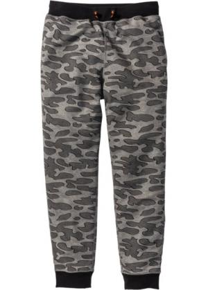 Функциональные спортивные брюки (серый меланж с рисунком) bonprix. Цвет: серый меланж с рисунком
