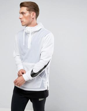 Nike Белая куртка с капюшоном Hooded 833866-100. Цвет: белый