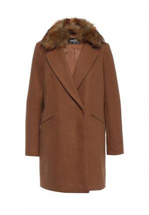 Пальто Wallis. Цвет: коричневый