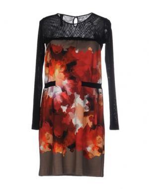 Короткое платье PIANURASTUDIO. Цвет: коралловый