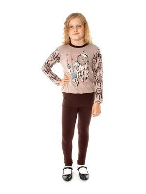 Комплект одежды Апрель. Цвет: коричневый, светло-коричневый, бирюзовый