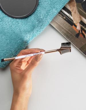 Skinnydip Кисть-расческа для ресниц и бровей с мраморной ручкой. Цвет: бесцветный