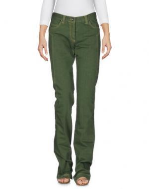 Джинсовые брюки HEAVEN TWO. Цвет: зеленый